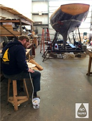 wooden boat restoration project bristol ri
